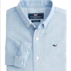 Vineyard Vines Boys solid Oxford Whale Shirt  L